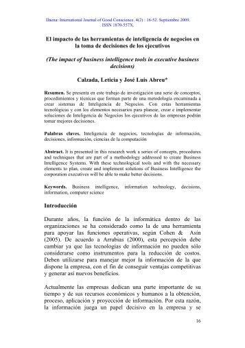 El impacto de las herramientas de inteligencia ... - Spentamexico.org