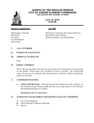 agenda of the regular session city of auburn planning commission