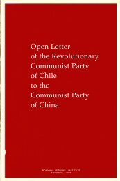 Open Letter of the Revolutionary Communist ... - From Marx to Mao