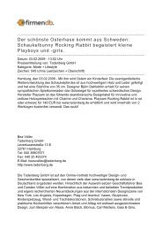 Der schönste Osterhase kommt aus Schweden ... - Firmendb