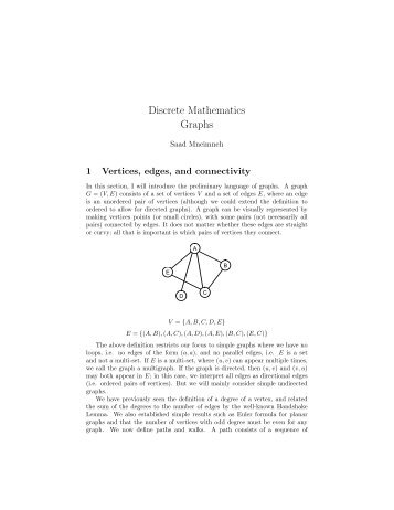 Discrete Mathematics Graphs