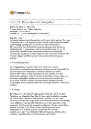 POL-SZ: Polizeibericht Salzgitter - Firmendb