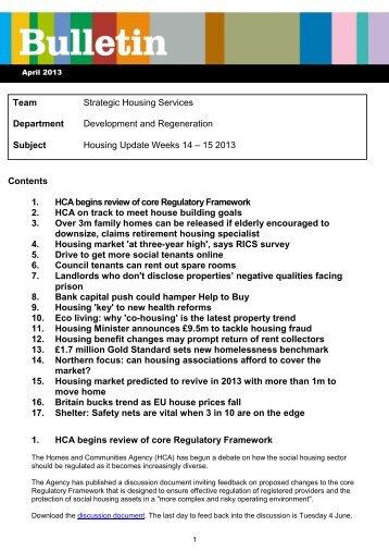 Housing Update weeks 14-15 2013 - Bolton Landlord Accreditation ...