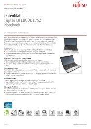 Datenblatt Fujitsu LIFEBOOK E752 Notebook - bei Fujitsu ...