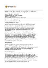 POL-ESW: Pressemitteilung vom 19.10.2011 - Firmendb