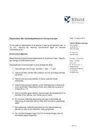 Dispensation til oprensning af søer ... - Billund Kommune