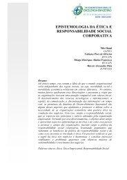 epistemologia da ética e responsabilidade social corporativa