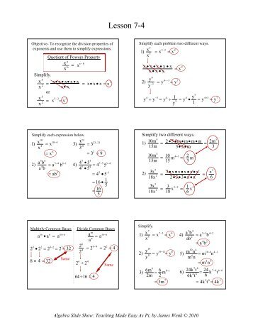 Printables Division Properties Of Exponents Worksheet 7 2 division properties of exponents worksheet answers showme showme
