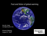 Fact and fiction of global warming