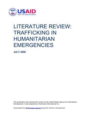 literature review: trafficking in humanitarian emergencies - La Strada ...