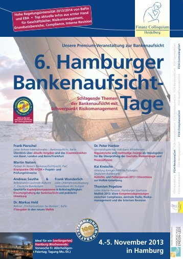 6. Hamburger Bankenaufsicht- Tage