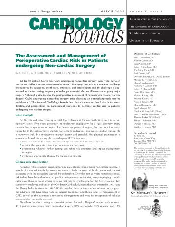 The Assessment and Management of Perioperative Cardiac Risk in ...