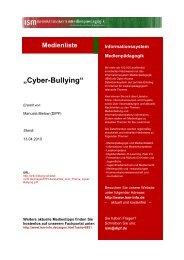 """Cyber-Bullying"" - Bildung schadet nicht"