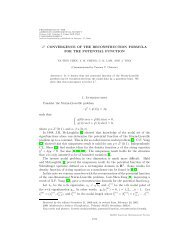 L1 convergence of the reconstruction formula for the potential function