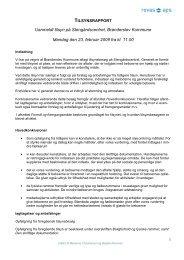 Tilsynsrapport fra uanmeldt tilsyn på Stengårdscentret - Brønderslev ...
