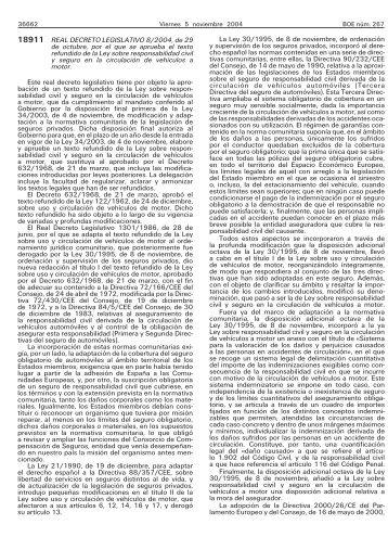 El Real Decreto Legislativo 8/2004. - BOE.es
