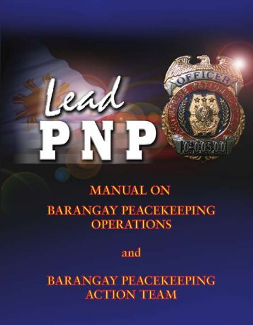 Barangay Peacekeeping Operation - Philippine National Police