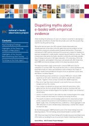 Dispelling myths about e-books with empirical evidence - CIBER ...