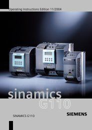 Operating Instructions Edition 11/2004 SINAMICS G110 - Industry