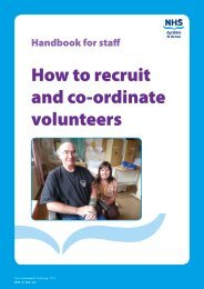 How to recruit and co-ordinate volunteers - NHS Ayrshire and Arran.