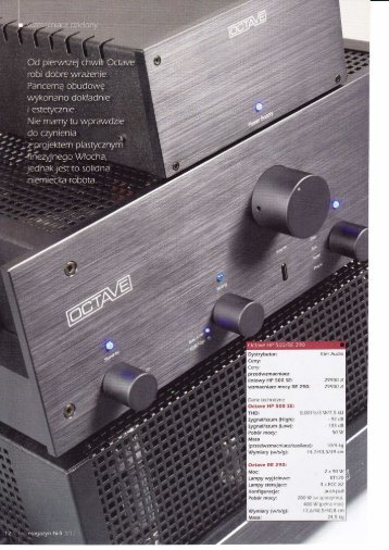 Magazyn HIFI Octave HP500-RE290 - Eter Audio