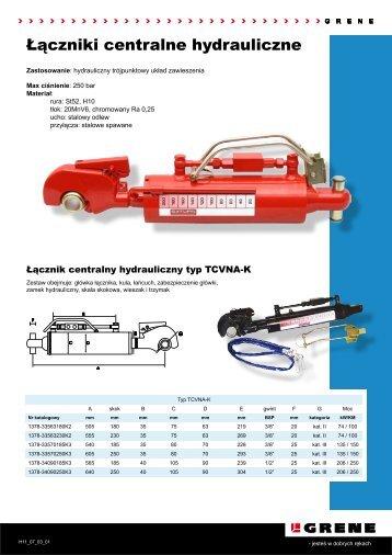 Łączniki centralne hydrauliczne - Grene