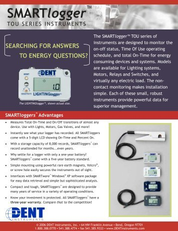 TOU 3G Flyer for PDF - DENT Instruments