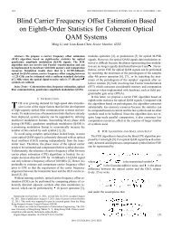 Blind Carrier Frequency Offset Estimation Based on ... - IEEE Xplore