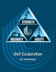 2011 Annual Report - Unit Corporation