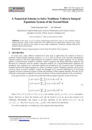 A Numerical Scheme to Solve Nonlinear Volterra Integral Equations ...