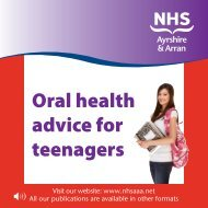 Oral health advice for teenagers