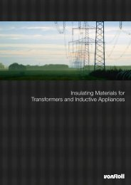Insulating Materials for Transformers and Inductive ... - Von Roll
