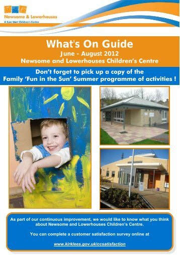 What's On Guide - Community Learning in Kirklees