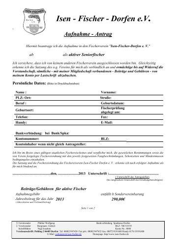 Aufnahmeantrag 2013 Aktiv.pdf - Isen-Fischer Dorfen e.V.