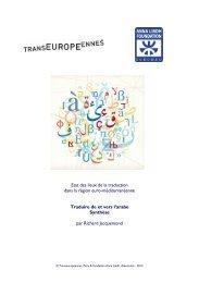 TEM 2012 Synthèse sur la traduction de et vers l'arabe
