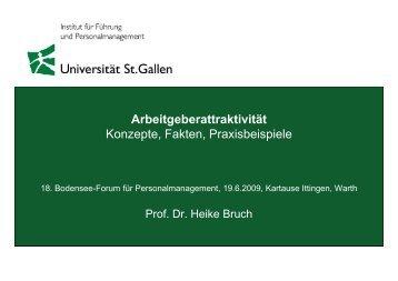 Konzepte, Fakten, Praxisbeispiele - Bodensee-Forum Personalmanagement