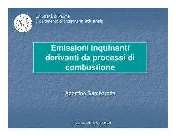 Emissioni inquinanti derivanti da processi di combustione