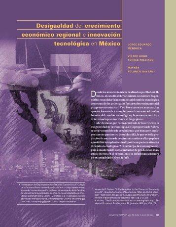 Desigualdad del crecimiento económico regional e innovación ...