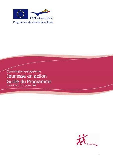 Jeunesse en action Guide du Programme - Injep