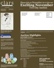 Gift Certificates Available - Clars Auction Gallery