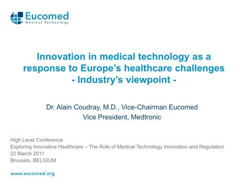 Innovation in medical technology as a response to - MedTech