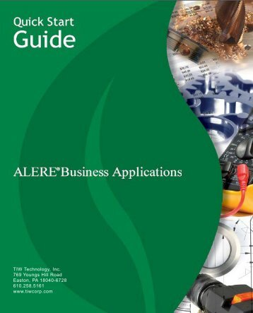 ALERE Quick Start Guide - TIW Technology, Inc.