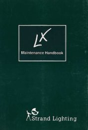 LX Maintenance Handbook - December 1991 - The Strand Archive