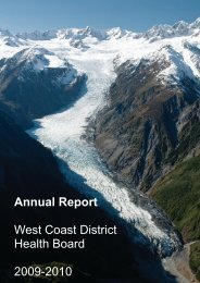 WCDHB Annual Report - West Coast District Health Board