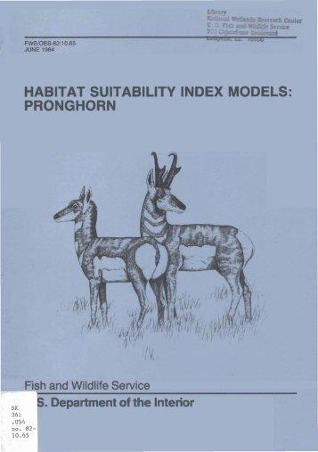 habitat suitability index models: pronghorn - USGS National ...