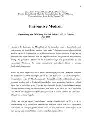 Präventive Medizin - Prof. Dr. med. Dr. hc Dietrich Seidel