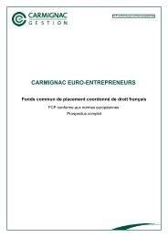 CARMIGNAC EURO-ENTREPRENEURS - Haussmann Patrimoine