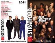 2011 visitors' guide - Stratford Festival