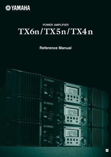 TX6n/TX5n/TX4n Reference Manual - Yamaha Downloads