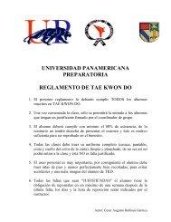 universidad panamericana preparatoria reglamento de tae kwon do